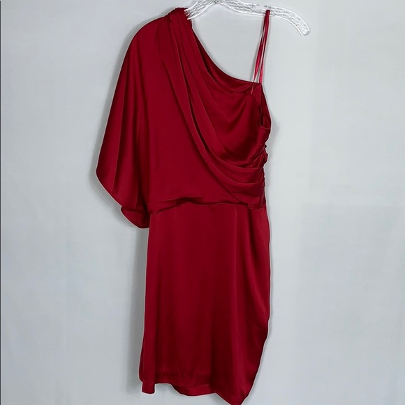 Cache Dresses & Skirts - Cache Red off the Shoulder Dress SZ 10 NWT